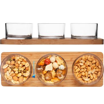Serveringssæt med glas med logos