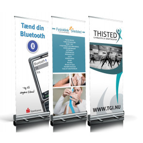 Design dit eget banner - Roll-up banner - Eco roll-up - Messeudstyr - Reklame display - Banner til alle formål - Udstillingsbanner - Messebanner - Eventbanner - Banner til markedsføring