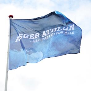 Reklameflag til flagstang - Reklameflag med logo - Flag med logo - Flag i højformat - Flag i bredformat