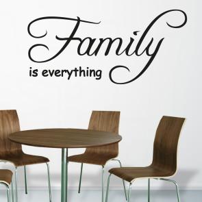 Familie wallsticker - Wallstickers med citat - Wallsticker i folie - Wallsticker i bedste kvalitet - Traditionel wallsticker med budskab