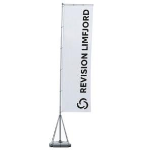Stort reklameflag - eventflag - stor synlighed - Reklameflag med tryk - Få dit logo på et flag - Henvisningsflag