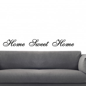 Klassisk wallsticker - Home Sweet Home - Romantisk wallsticker - Wallsticker med citat - Wallsticker i den størrelse og farve, du ønsker