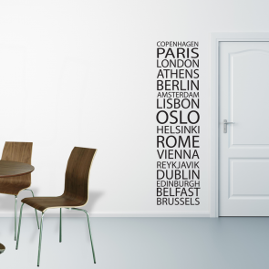 Wallsticker med byer - Wallsticker i alle farver - Wallsticker i højeste kvalitet og bedste pris