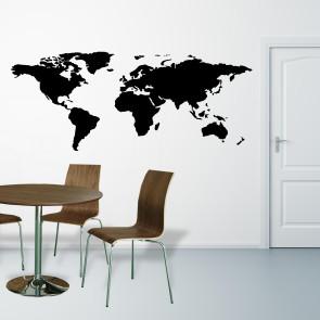 Moderne wallsticker - Verdenskort wallsticker - Wallsticker i alle farver - Wallsticker i alle farver - Wallsticker i bedste kvalitet
