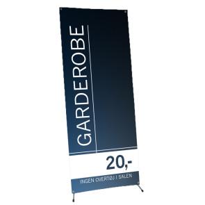Banner til messe - Banner til udstilling - Banner til event - Messeudstyr - Få dit budskab i øjenhøjde - Reklame display - Design din egen banner - Bliv synlig!