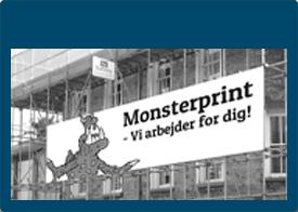 Byggepladsbanner - Stofbanner - Reklame i format - Bannerprint - Banner med dit eget design - Læs mere