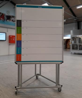 Whiteboardtavle i høj kvalitet leveret til en lokal virksomhed
